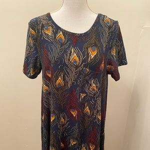 Lularoe Carly Peacock print
